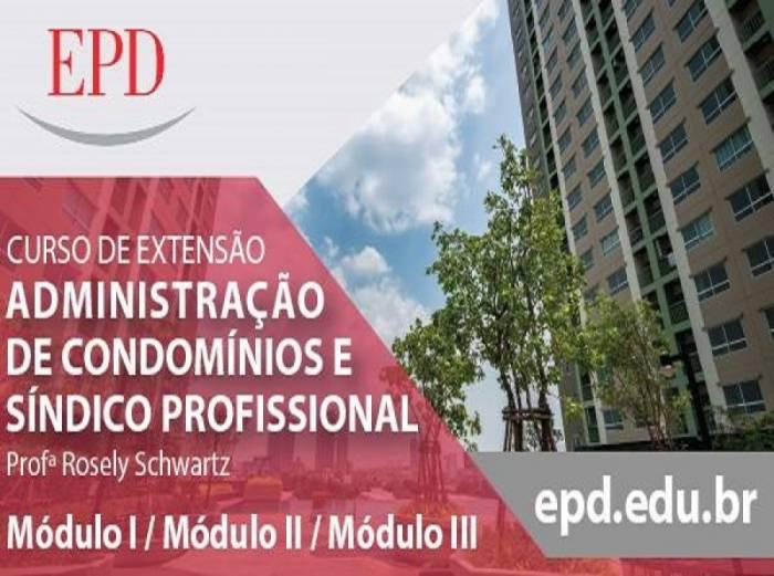 Curso de Adm de Condomínios com a Prof.ª Rosely Schwartz em São Paulo-SP